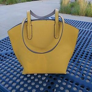 NWOT Merona Yellow Mustard Bucket Shoulderbag